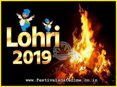 2019 Lohri Festival Date & Time, 2019 Lohri Calendar