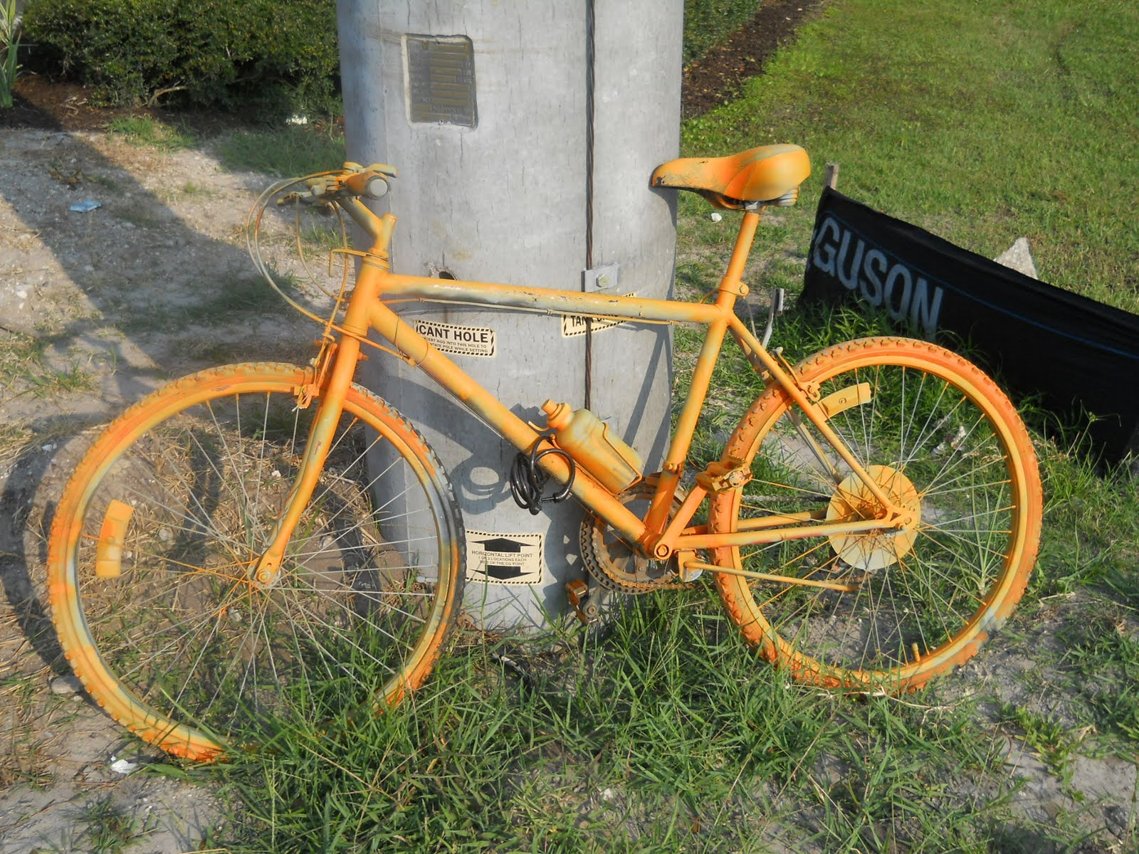 4a2bb2250ad These orange-painted bicycles have popped up around the Panera Bread/Best  Buy shopping center along Bruce B. Downs Blvd. in New Tampa.