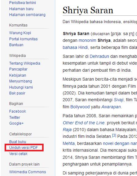 cara donwload artikel di wikipedia