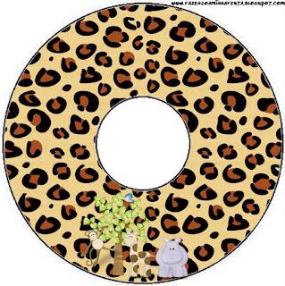 Etiquetas de La Selva de Juguete para CD's.