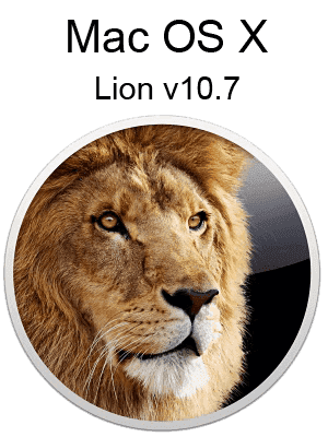 Mac OS X Lion v10.7 box