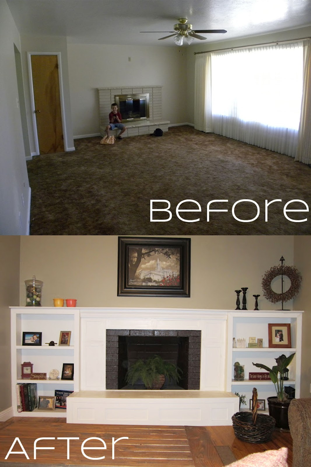 Createinspiremotivate: Fireplace Makeover