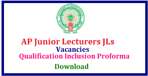 AP Junior Lecturers JLs Promotion Vacancies Subject wise Seniority Lists Download Andhra Pradesh Education Dept Inclusion of Eligible qualificaiotions for Junior Lecturer DIET Lecturers Posts School Assistants | Download Proforma to include yoyr Qualificaitons for JL Promotions Telugu Hindi English Maths Physics Chemistry Economics Civics History Commerce Zoology Total 1502 JL Posts in AP ap-junior-lecturers-jls-promotion-vacancies-subject-wise-seniority-download-application-form APPROXIMATE NO OF VACANCIES FOR JUNIOR LECTURER POSTS IN AP STATE/2017/09/ap-junior-lecturers-jls-promotion-vacancies-subject-wise-seniority-download-application-form.html