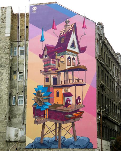 """""""Living-Space"""" by Fat Heat and Bea Pántya, Arany Janos utca, Budapest"""