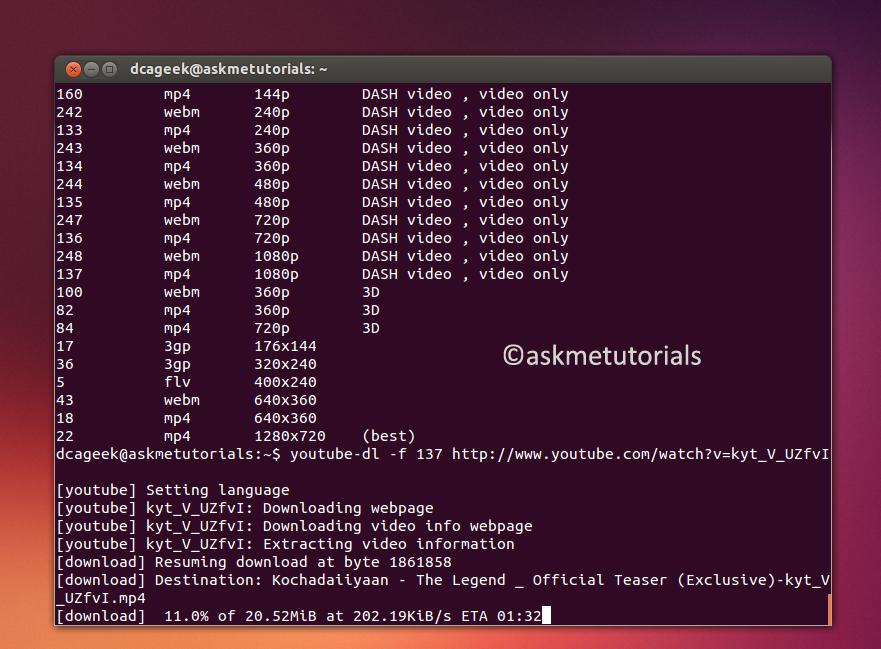 Install YouTube-dl On Ubuntu / LinuxMint / Fedora
