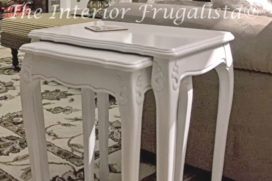Vintage Nesting Tables spray painted high close white