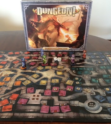 Dungeon board game in play