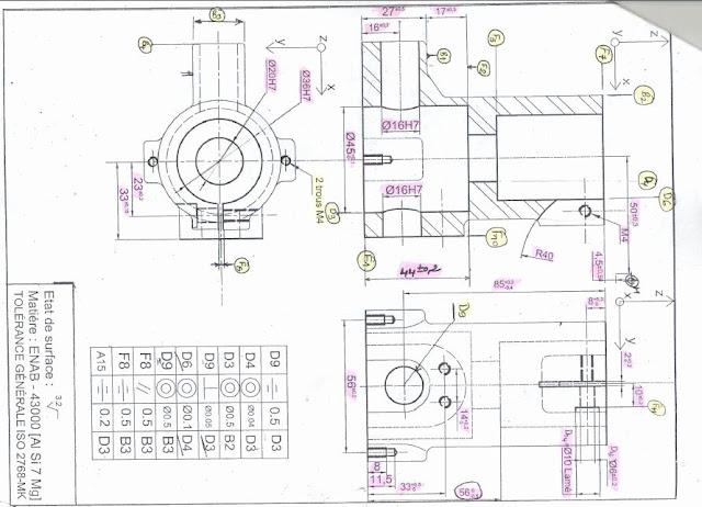 Exercice Contrat de phase - Gamme d'usinage (dossier de fabrication )