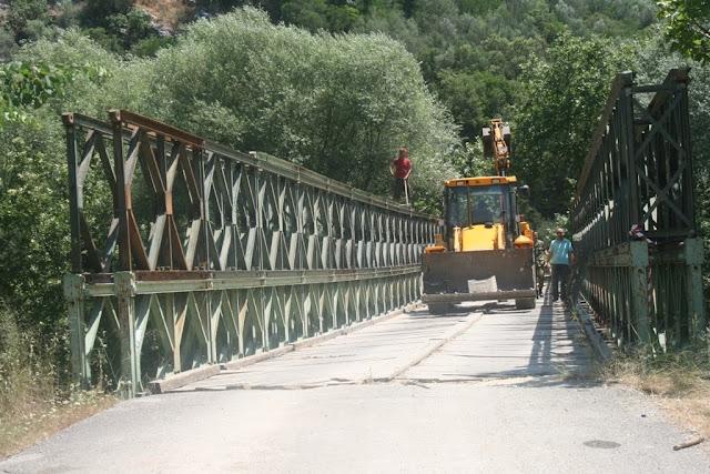 """Πρέβεζα: Διακοπή της κυκλοφορίας στην γέφυρα """"BELLEY'' του ποταμού Αχέροντα"""