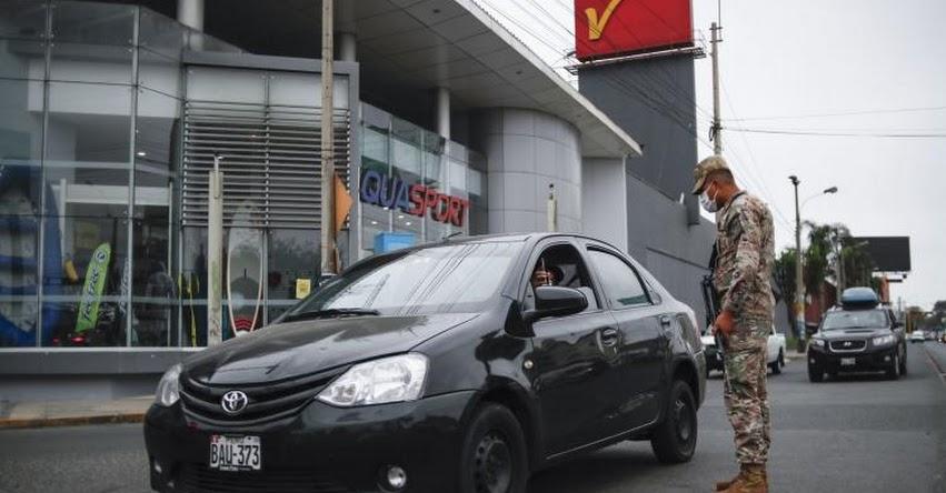 CORONAVIRUS EN PERÚ: Hoy domingo no podrán circular vehículos particulares