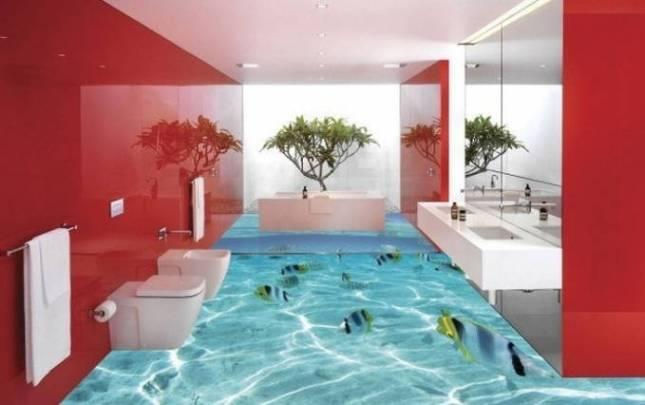 Dijamin pengen berenang kalau kamar mandinya kayak gini dan nggak mau pindah. Betul?