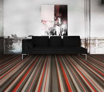piso con rayas