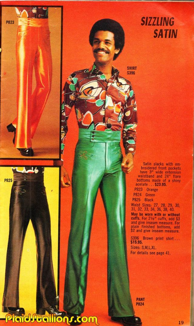 In The 1970s Real Men Wore Flared Trousers And Flowery T