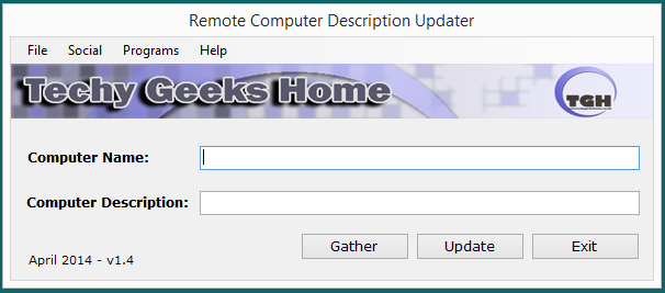 Remote Computer Description Updater v1.4 Released 7