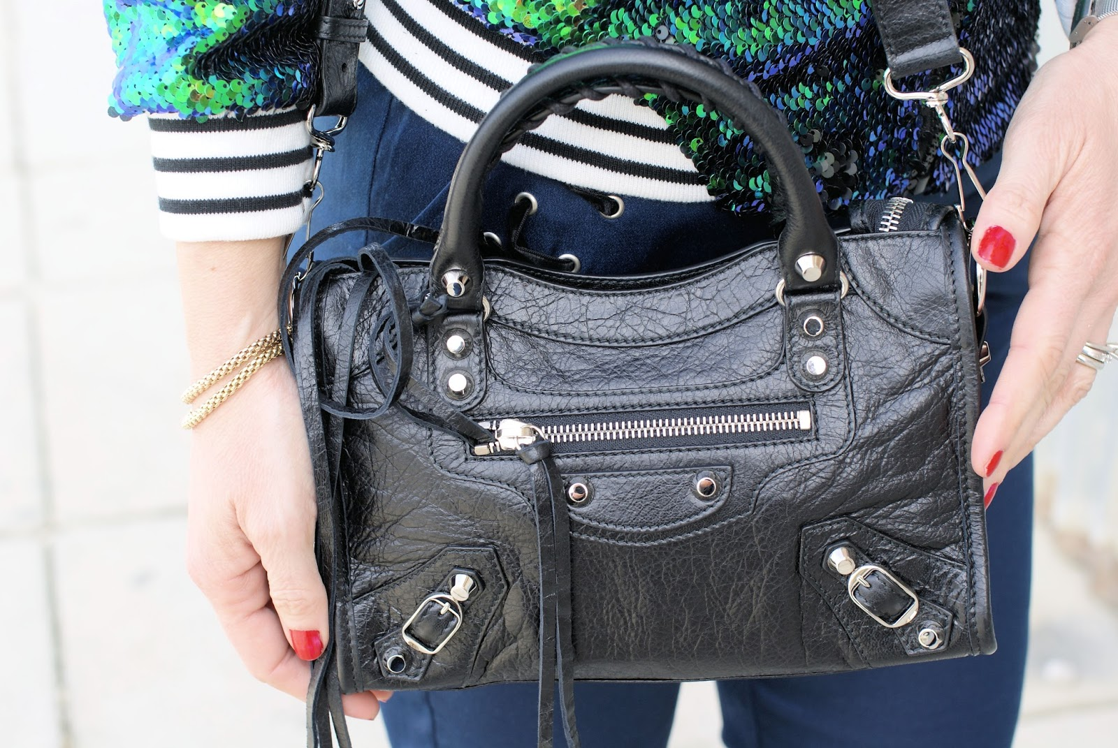 Balenciaga City Mini bag on Fashion and Cookies fashion blog, fashion blogger style