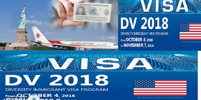 قرعة الهجرة العشوائية لأمريكا 2018 عبر موقع اللوتري dvlottery