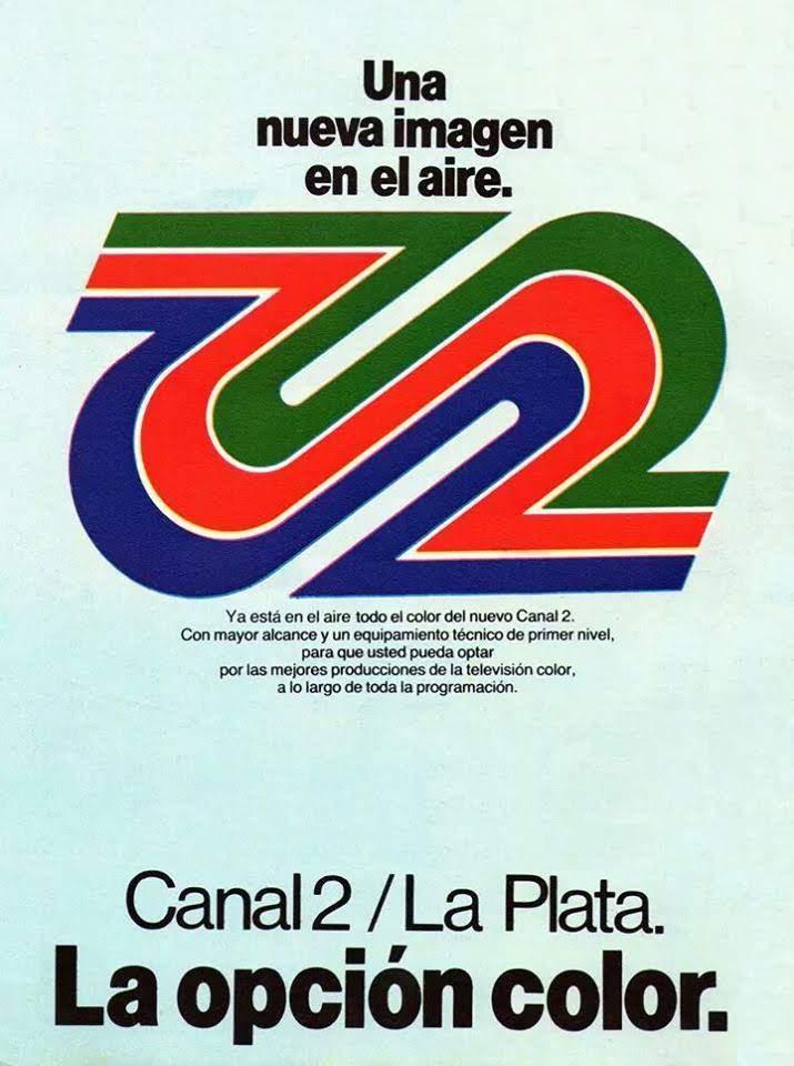 Mundo Fede: Publicidad de Canal 2 La Plata por la TV color (1980)