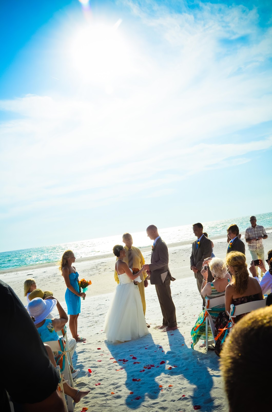 Coquina Beach Wedding Backlit Ceremony