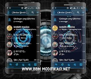 BBM Mod Droid Chat Futuristic Theme v3.1.0.13 apk + Dual BBM