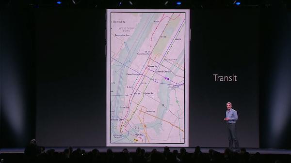 終於整合了公共運輸資訊的Apple Map