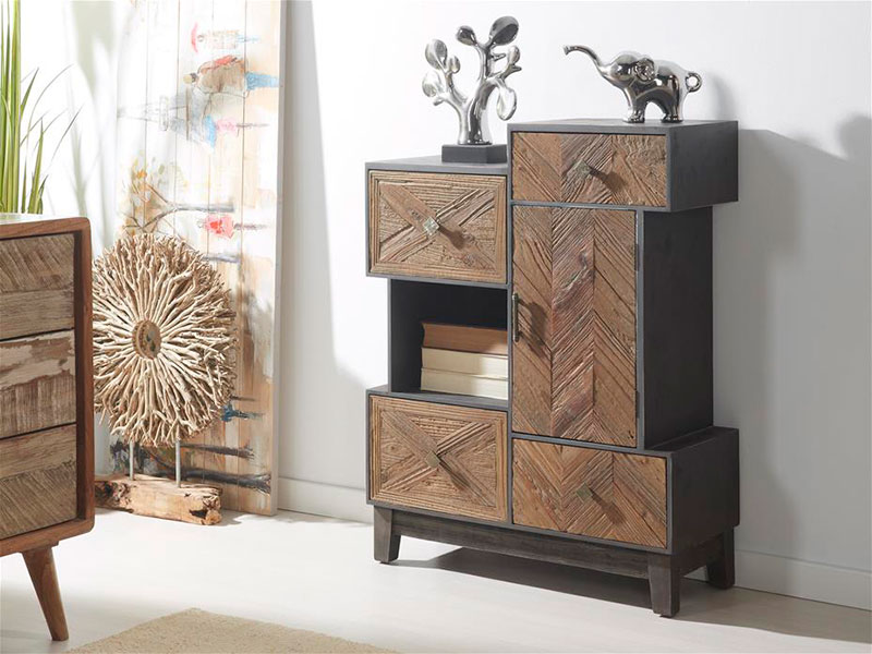 mueble auxiliar gris madera andico mueble auxiliar natural madera