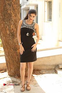 Actress Poojitha Pallavi Naidu Stills in Black Short Dress at Inkenti Nuvve Cheppu Movie Platinum Disc Function  0277.JPG