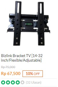 harga Bracket TV Bizlink LED / LCD 14 - 32 Inchi