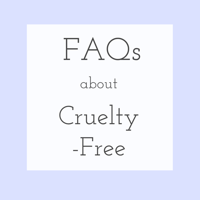 FAQs about cruelty-free