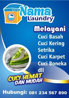 Contoh Brosur Laundry Rumahan