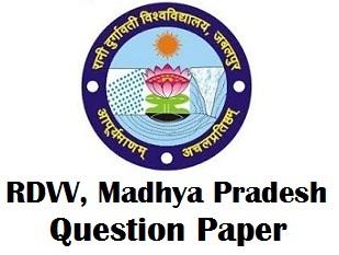 RDVV Jabalpur Question Paper PDF