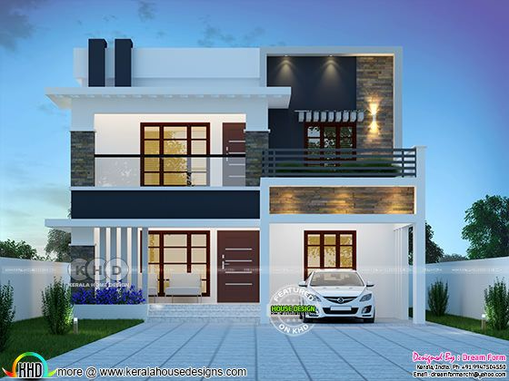 4 bedroom 2333 sq.ft modern home design