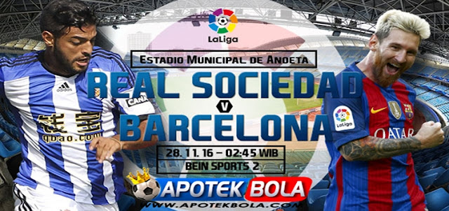 Prediksi Pertandingan Real Sociedad vs Barcelona 28 November 2016