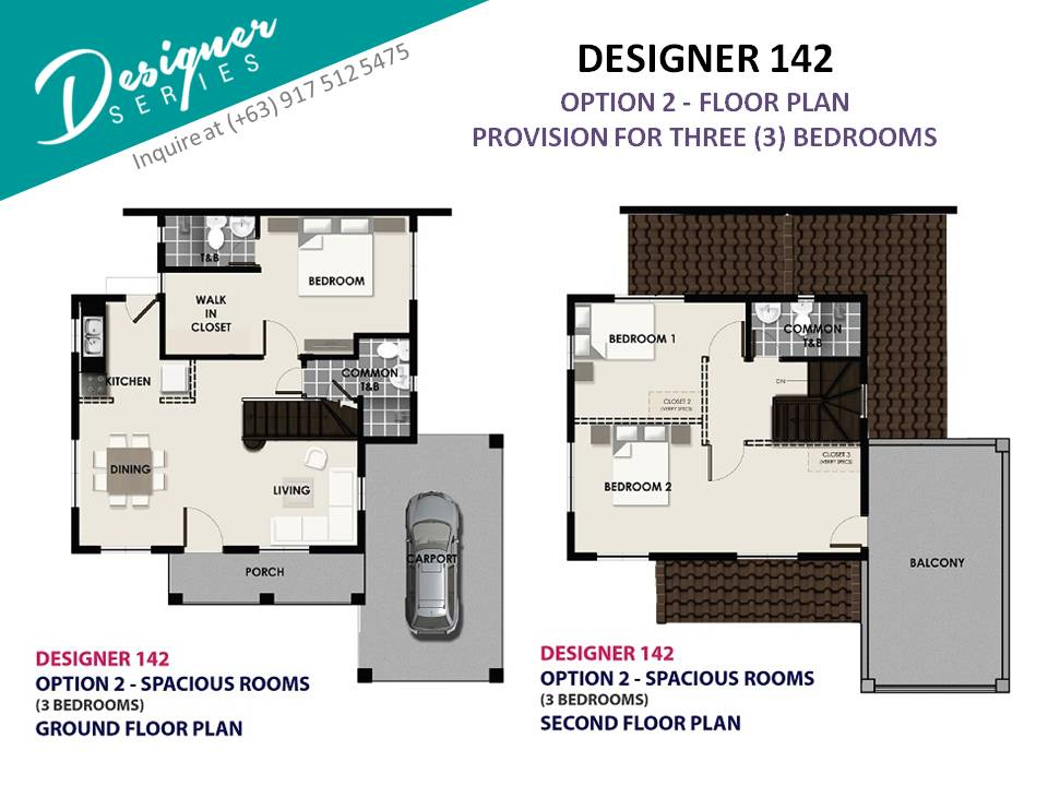 Option 2 - Floor Plan of Levanzo at The Island Park - Designer 142 | House and Lot for Sale Dasmarinas Cavite