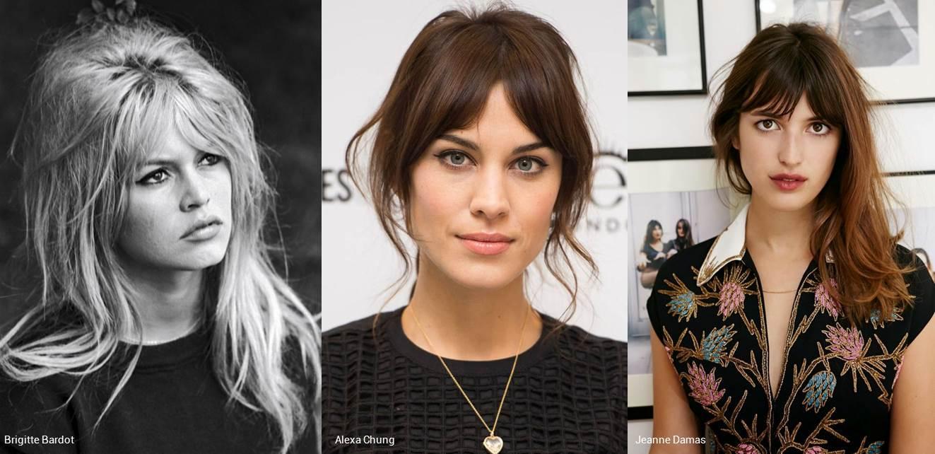 Franja dividida, estilo Brigitte Bardot, Alexa Chung ou Jeanne Damas