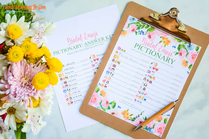 picture regarding Emoji Bridal Shower Game Free Printable known as Absolutely free Printable Bridal Shower Video games i need to be mopping the