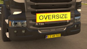 Oversize sign board for all trucks