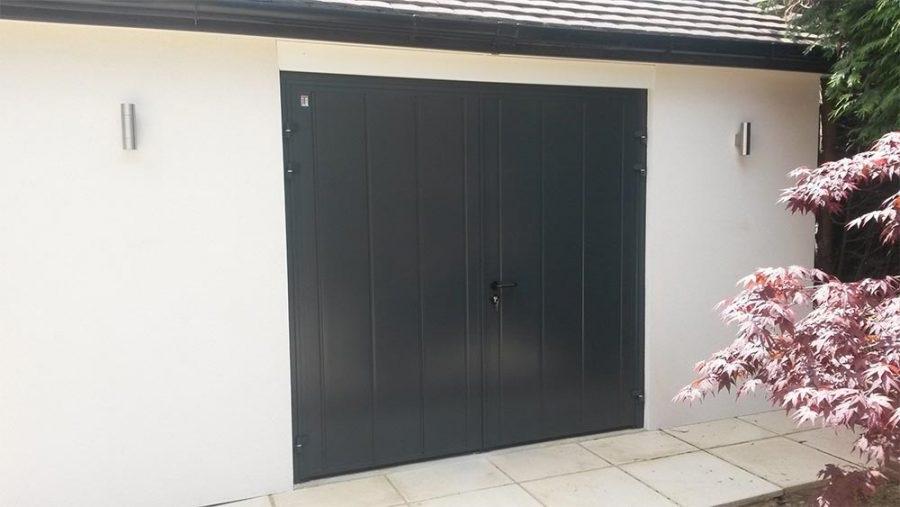 garage door.