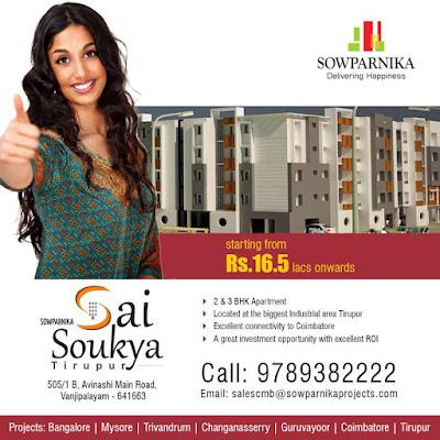 3 BHK flats in Tirupur