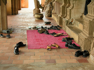 Not Wearing Shoes Indian Temple