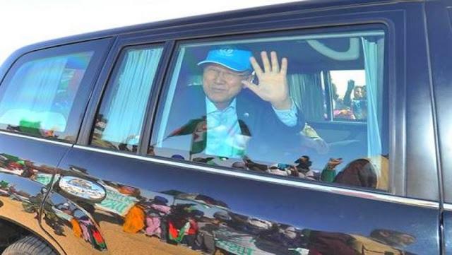 الامين العام للامم المتحدة بان كي مون يصل إلى مخيمات اللاجئين الصحراويين