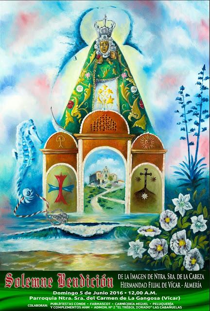 Cartel Bendición Virgen de la Cabeza Almería