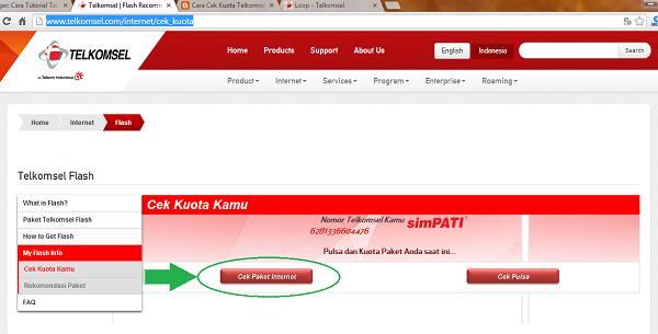 Cek Sisa Kuota Telkomsel Paket Internet SimPATI