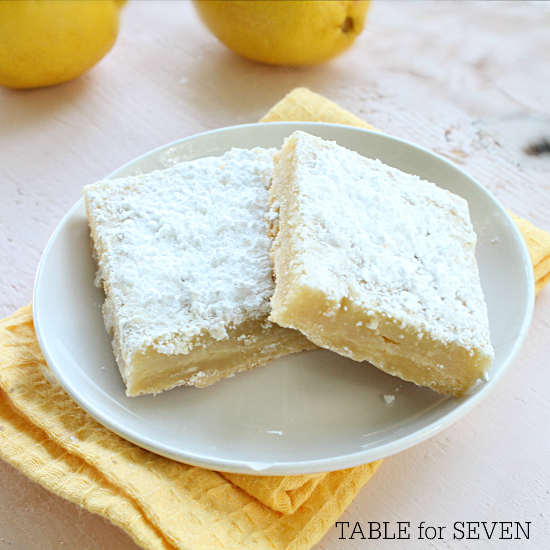 Lemon Squares from Table for Seven