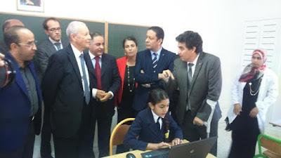زيارة وزير التربية الوطنية لمجموعة مدارس أومناست بإقليم الحوز