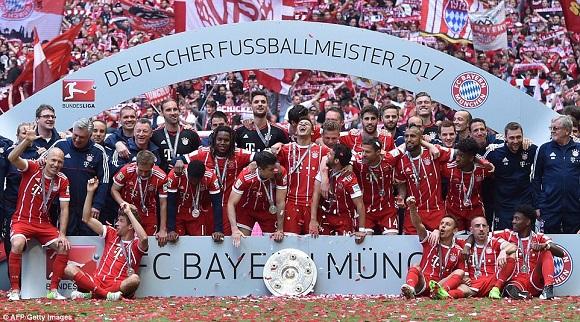 Bayern Munchen juara Liga Jerman Bundesliga 2016-2017