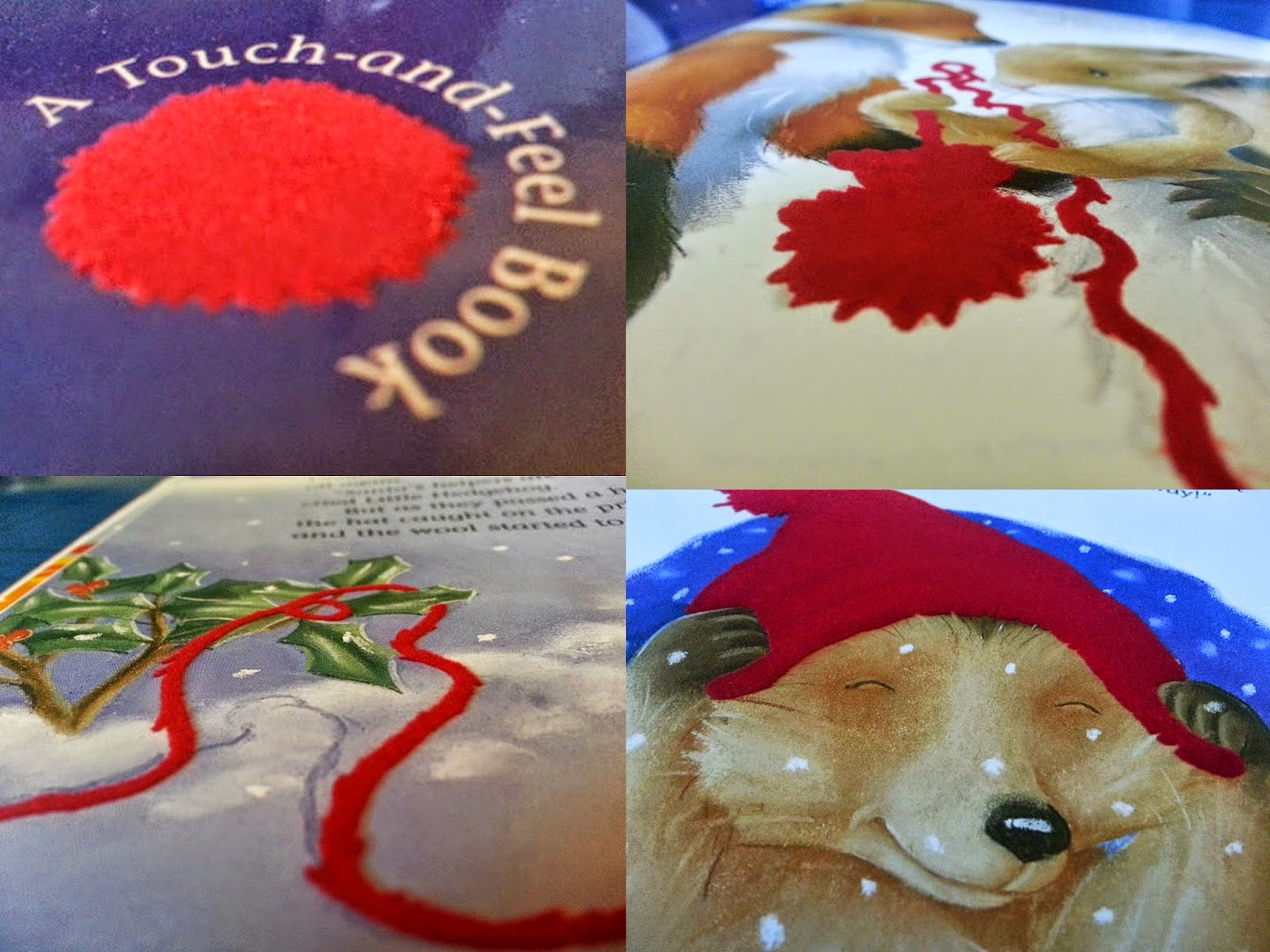 Little Tiger Press Tina Macnaughton touch and feel books red flocked printing