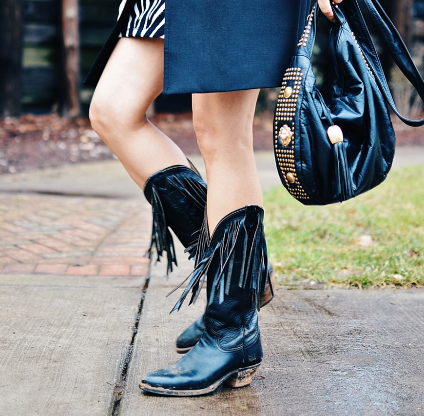 How to wear boots with fringe