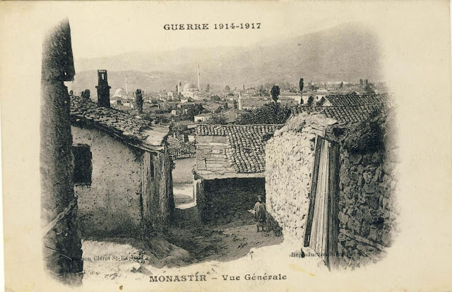 """Panorama of Bitola from """"Smilevski Bair"""" from 1917 by the publisher Clerot St.Raphael."""