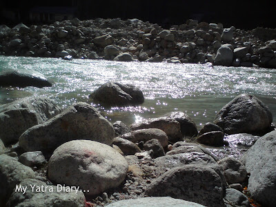 River Ganga at Badrinath - Srinagar highway in the Garhwal Himalayas in Uttarakhand