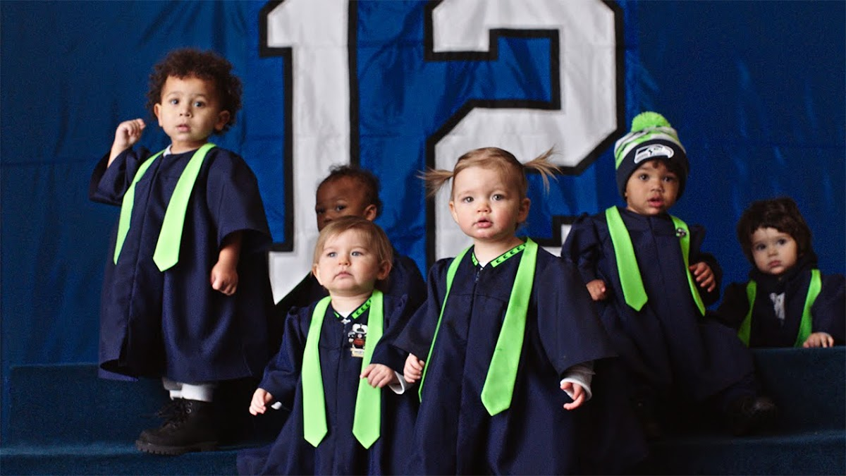 "NFL ""Super Bowl Babies Choir"" featuring Seal's Kiss From A Rose"